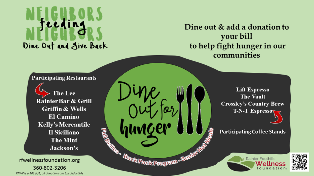 Rainier Foothills Dine out for Hunger Night